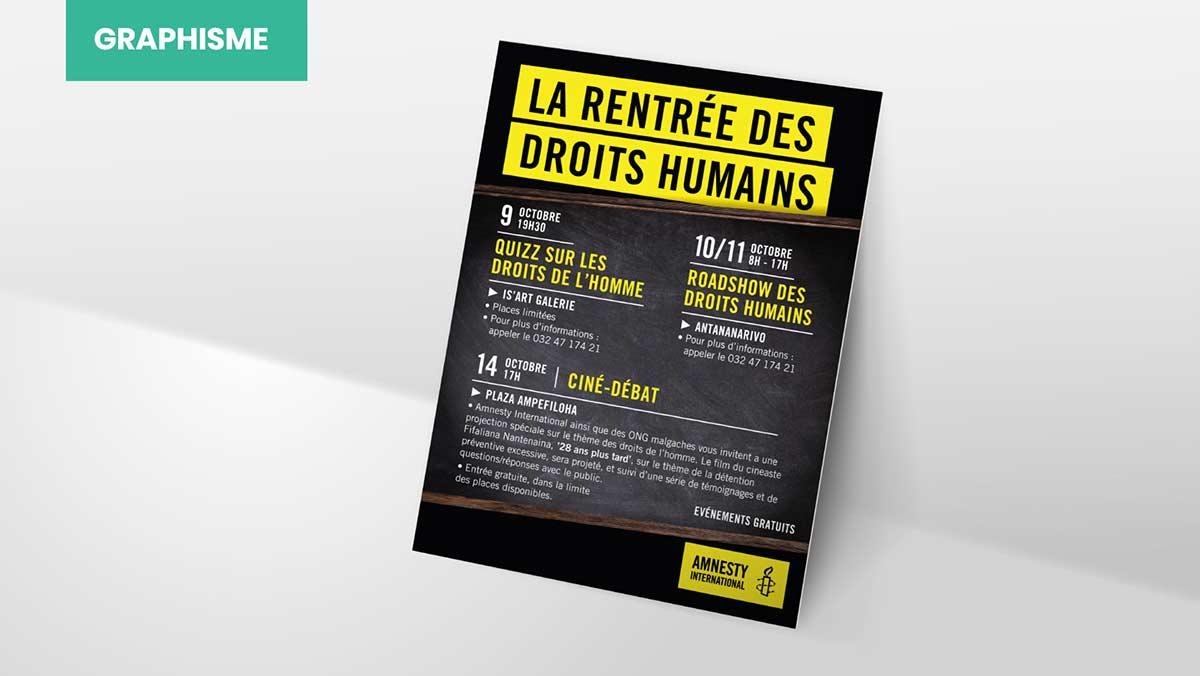 Campagne événementielle, la rentrée des droits humains
